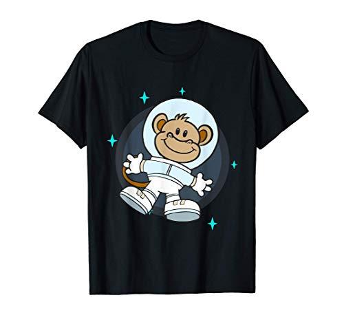 Galaxia Espacial Estrellas Mono Volador Burro Disfraz Mosca Camiseta