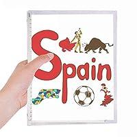 スペインの国家の象徴のランドマークのパターン 硬質プラスチックルーズリーフノートノート