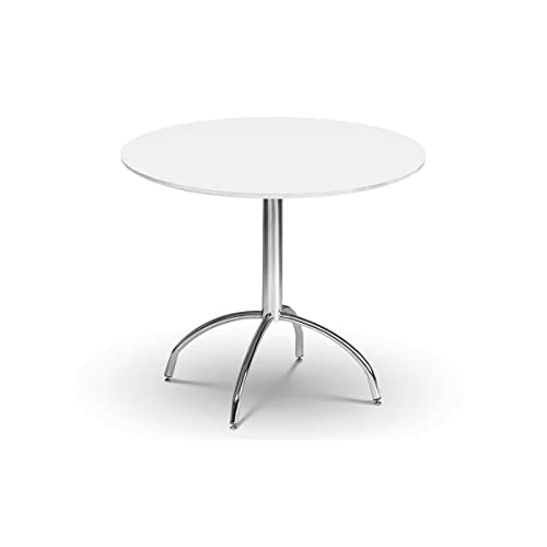 Florence Round Extended Table 92 117cm: White Round Table: Amazon.co.uk