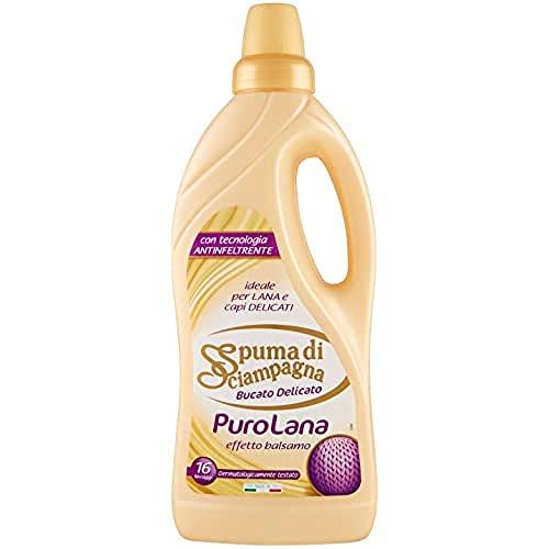 Spuma di Sciampagna Detersivo Per Bucato Liquido Delicato Puro Lana 16 Lavaggi - 1000 ml