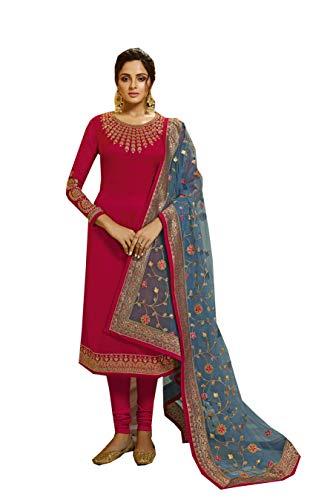 Delisa New Indian/Pakistani Bollywood Party/Wedding wear Salwar Kameez/Salwar Suit for Women LT S5 (Red, 0X-Plus)