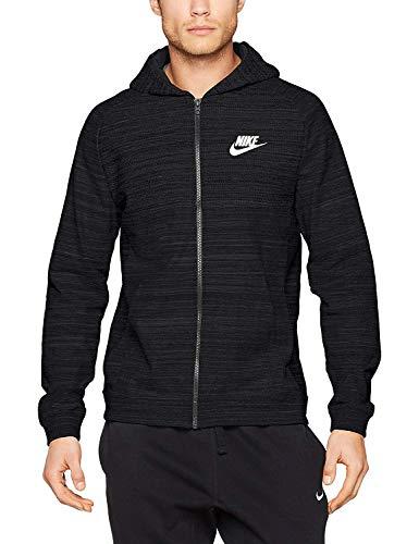 Nike Herren M NSW Hoodie FZ AV15 Knit Trainingsjacke Mit Kapuze, Schwarz/Heidekraut Grau/Weiß, 2XL