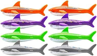 Carykon 8 Pcs Dive Toy Underwater Swimming Pool Toy Gliding Shark Throwing Torpedo (Shark)