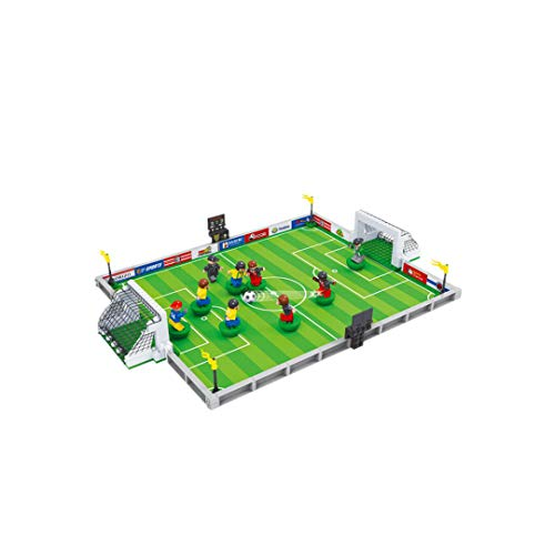 XXHDEE Football Building Blocks World Cup Ball King Fighting Puzzle Assembly Small Particles Boys Children's Toys Board Game Toy Gift