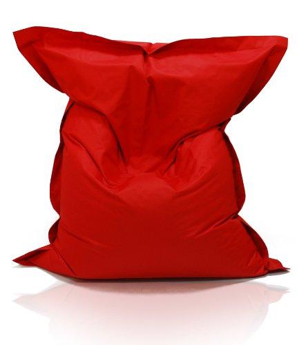 Kinzler S-10137/32 XXL Riesensitzsack, 140x180 cm, neue Styroporkügelchen, Sitzsack Outdoor Indoor,  in vielen verschiedenen Farben, mit Innensack, rot