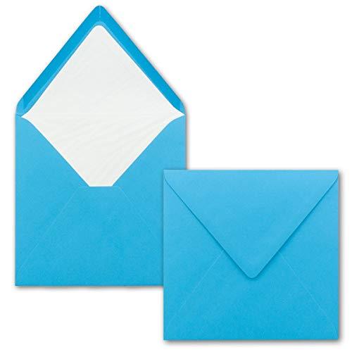 25 x Briefumschläge Quadratisch 16 x 16 cm in - Umschläge mit weißem Seidenfutter - Kuverts ohne Fenster & Nassklebung - 90 g/m²