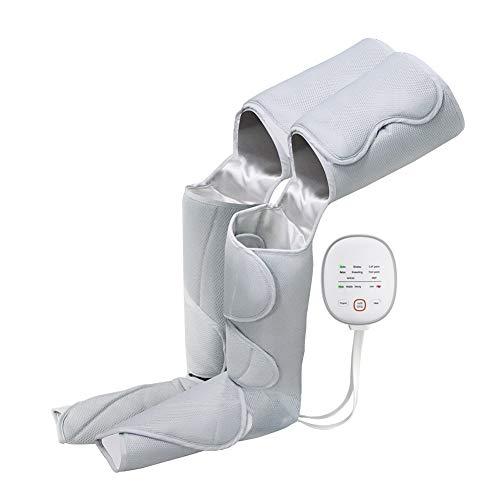 PYXZQW Masajeador de piernas, Masaje de presión de Aire, Masajeador de piernas y pies, Equipo de presoterapia portátil, Dispositivo de compresión secuencial para la circulación,Blanco