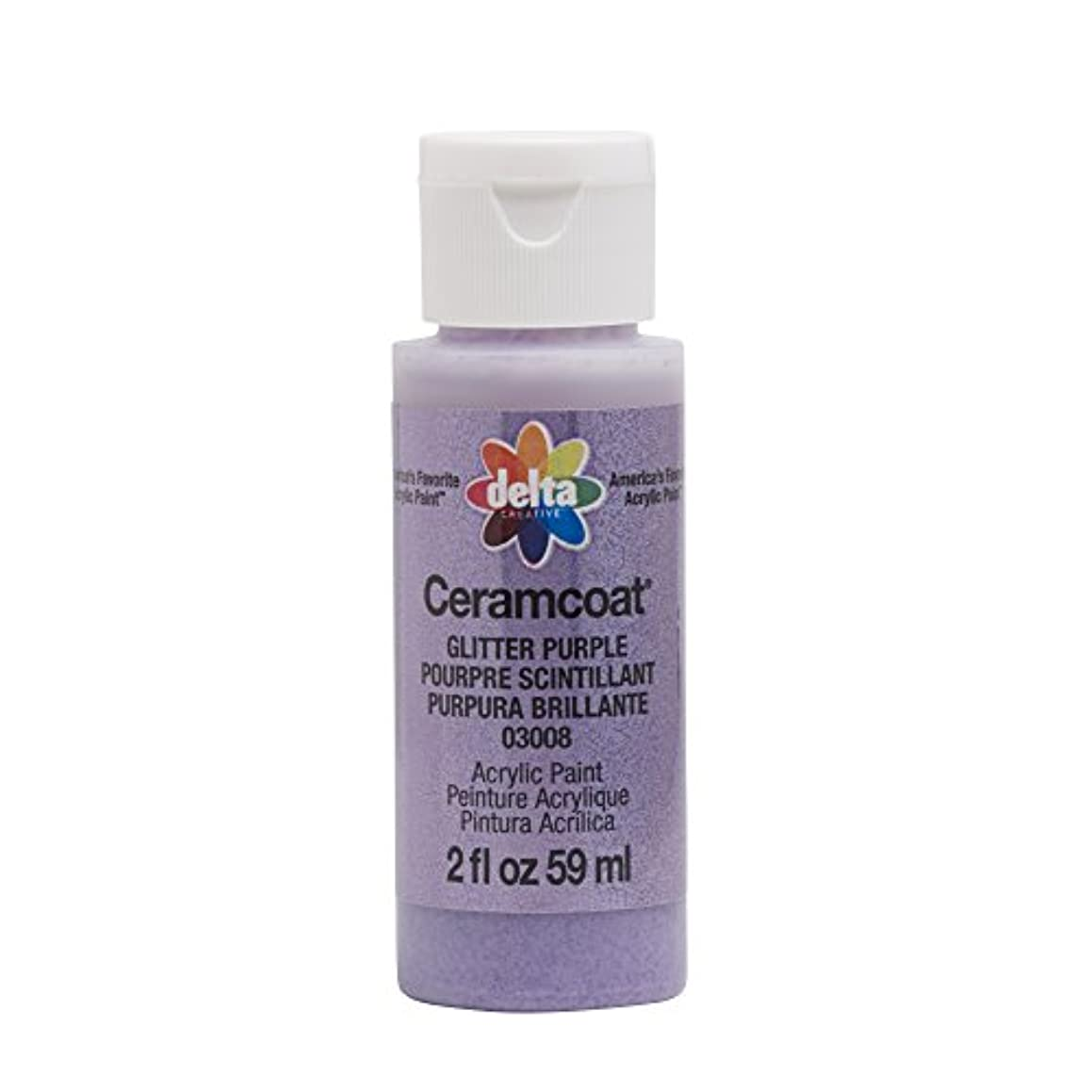 Delta Creative 03008 Ceramcoat 2oz Glitter Purple Acrylic Paint,