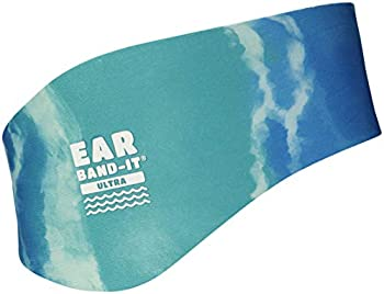 EAR BAND-IT Ultra Tie Dye Swimming Headband – ONLY Swim Ear Band Invented by ENT Doctor – Block Water Secure Earplugs – Kid & Adult Sizes – Recommended Water Protection for Bath Shower Pool Beach