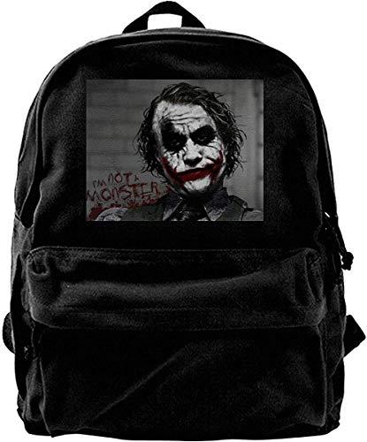 Canvas Rucksack The Joker Heath Ledger Swag Hipster Rucksack Gym Wandern Laptop Umhängetasche Daypack für Männer Frauen