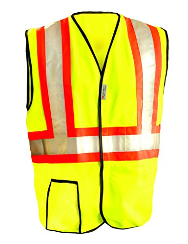 Occunomix LUX-SSG2T-Y3X Class 2 High Visibility Premium Solid Two-Tone High Visibility Vest, 3X-Large, Yellow