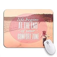ROSECNY 可愛いマウスパッド ノートブックマウスマット用の滑り止めラバーバッキングコンピューターのマウスパッドの終わりからインスピレーションを得た活版印刷の生活が始まります