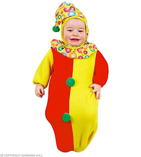 WIDMANN badpak Clown kinderen unisex groen rood geel tot 9 maanden 3593W