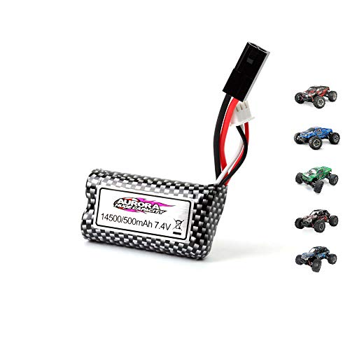 Himoto HSP 7.4V 500mAh Li-ion Power Akku für RC Fahrzeuge u. a. für Xinlehong 9135, 9137, Ersatzakku für Monster-Truck, Auto, Buggy, Truggy Crawler, Ersatzteil