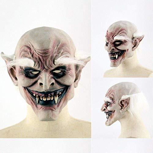 B-Creative HALLOWEEN MASKS - Disfraz de terror de Jason Voorhees espeluznante de ltex espeluznante (VAMPIRE OREJAS PUNTADAS)