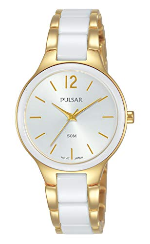 Pulsar dames analoog kwarts horloge met roestvrij stalen armband PH8434X1