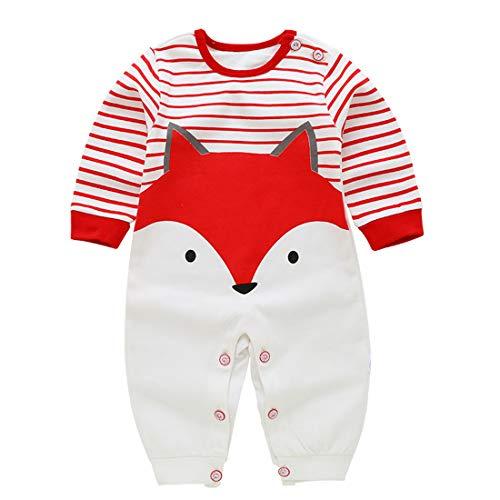 Usunny Vêtement Bébé Fill et Garçon Onesie Enfant avec des Motifs Mignons pour Nouveau Né 0-12 Mois (0-3 Mois, Renard)