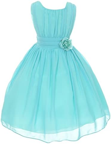 iGirlDress Big Girls Yoro Chiffon Flower Girls Dress 14 Aqua product image