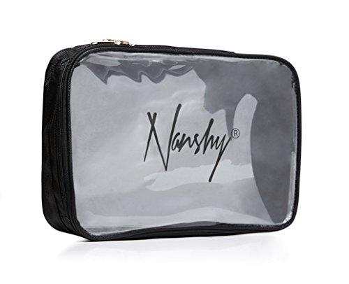 Reise-Kosmetiktasche Flugzeug-Schminktasche Kulturbeutel Makeup-Tasche mit Reißverschluss