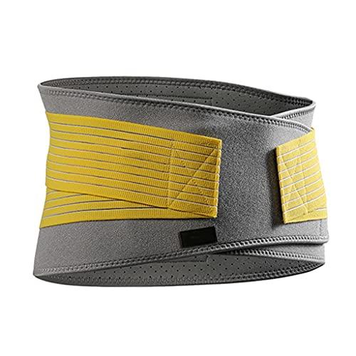 Guo-Me Cinturón Deportivo Fitness Abdomen Y Corsé Transpirable Baloncesto Corriendo Equipo De Protección De Apoyo Tres En Uno Musculación (Color : Yellow, Size : Small)