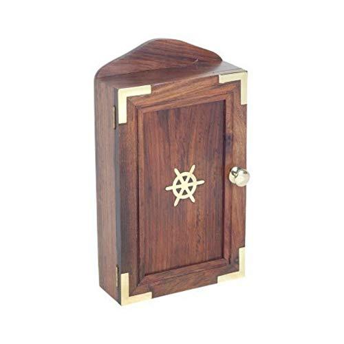 CAPRILO Caja Guardallaves Decorativa de Madera Marinero. Organización y Almacenamiento. Cajas Multiusos. Decoración Marina para Barcos. Regalos Originales. 29 x 16.5 x 6.5 cm.