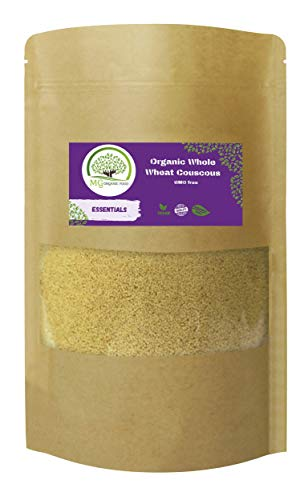Organic Whole Wheat Couscous :  Vegan  Organic  GMO Free  2kg