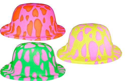 Chapeau melon couleur fluo
