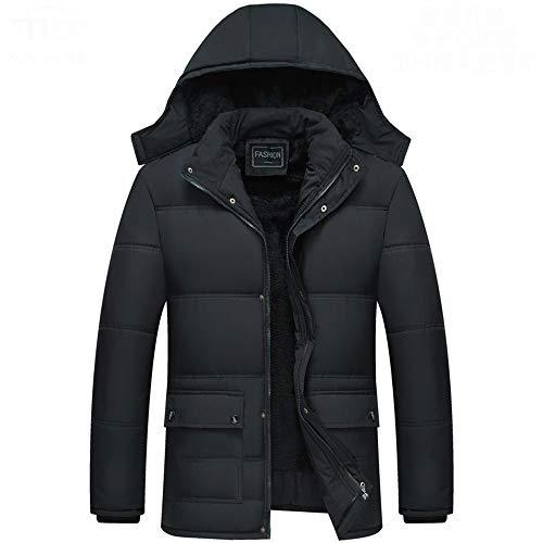 CFWL Winter Jacket Men's Cotton Jacket Plus Velvet Padded Cotton Men XL Sangro Jacket Mens XL Gate Keeper Jacket Mens XL Sequence Mens Jacketthe XL Bubble Jacket Mens Mens Walking Black