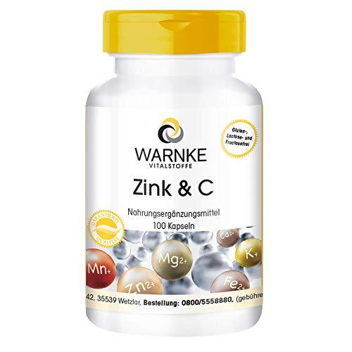 Zinc y Vitamina C – Vegano – Vitamina C 300mg + Zinc 5mg – 100 cápsulas