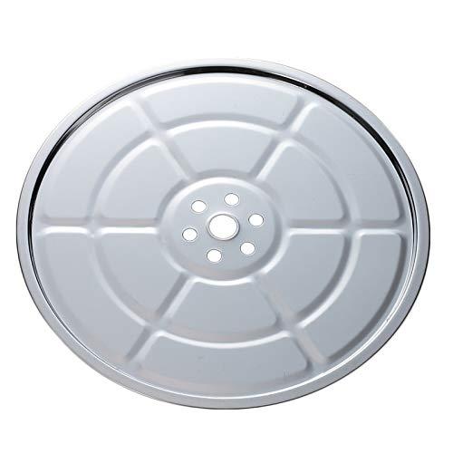 写真は28cmで、せいろの外径が24㎝まで使えます。そのほかに20・21.5・30・34㎝があります。鍋に蒸し板をのせる際に、取っ手が当たらないサイズを選んでください。