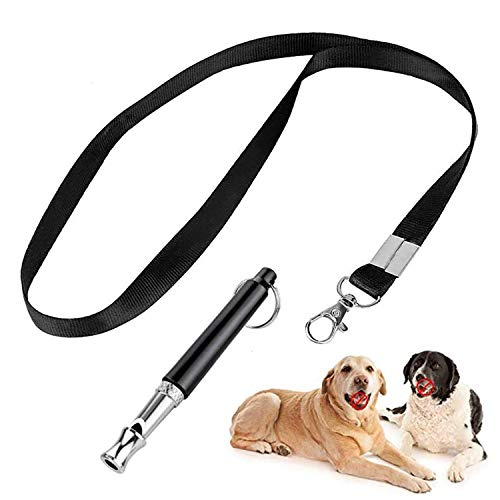 OMOW Dog Whistle to Stop Barking - Adjustable Frequencies Ultrasonic Silent Dog Whistle, Professional Dog Training Whistle, Whistle Dog Whistle for Recall Training, Include Free Black Strap Lanyard