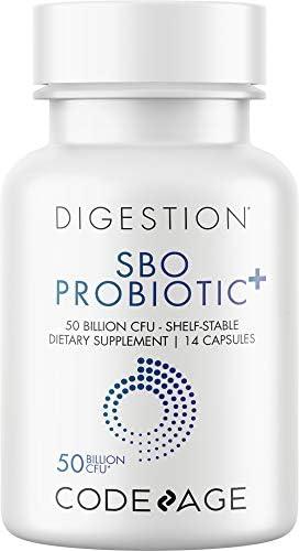 Codeage SBO Probiotics 50 Billion CFUs Multi Strain Soil Based Organisms Travel Sized Shelf product image