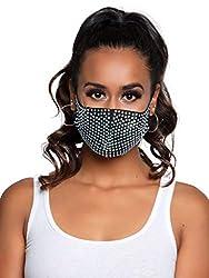 Coco Black Rhinestone Fashionable Face Mask