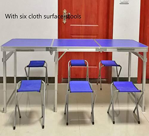 ZFLL klaptafels en stoelen – verleng de draagbare tafel voor buiten. Multifunctionele camping barbecuebureau met opvouwbare, verhoogde eettafel en stoel.