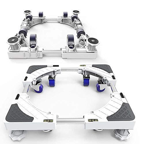 Universal Movable Verstelbare Mobiele Basis voor vriezer wasmachine droger stand met 8 Locking Rubber Swivel Wheels Anti vibratie Mute Cart Roller Dolly Trolley
