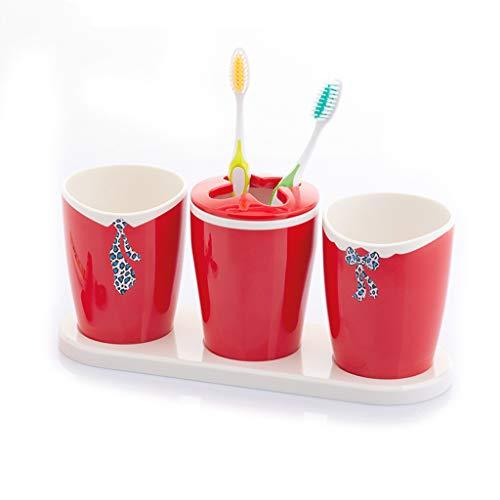 Juego de vasos de boca impermeables con exquisito vaso para la boca, regalo creativo, vaso para cepillo de dientes a prueba de humedad
