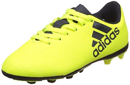 adidas X 17.4 FxG J, Scarpe da Calcio Unisex-Bambini, Giallo Blu Amasol Tinley Tinley, 28 EU