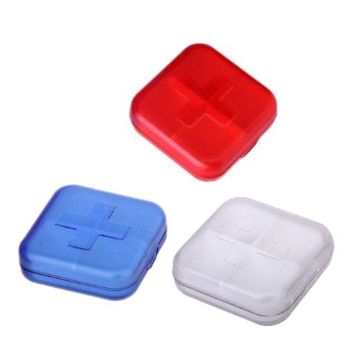 Boîte de Pilule Pilulier à 4 Compartiments - Couleur Aléatoire