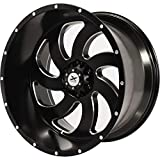 Xtreme Force XF-1 22x12ET -44 8x165.1 (8x6.5) Black and Milled