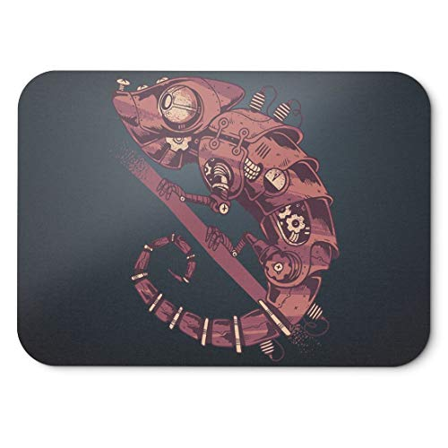 BLAK TEE Metal Steampunk Chamaleon Mouse Pad 18 x 22 cm in 3 Colours Black