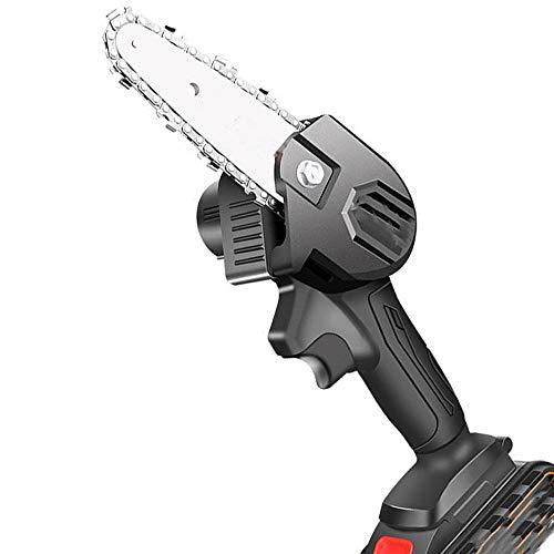 SHENGZHI Mini Motosierra Bateria de Mano, Mini Motosierra EléCtrica 88vf Recargable con Cadena de 4 Pulgadas Muy Adecuada para Podar Ramas Muy Adecuada para Cortar Podar áRboles Ramas