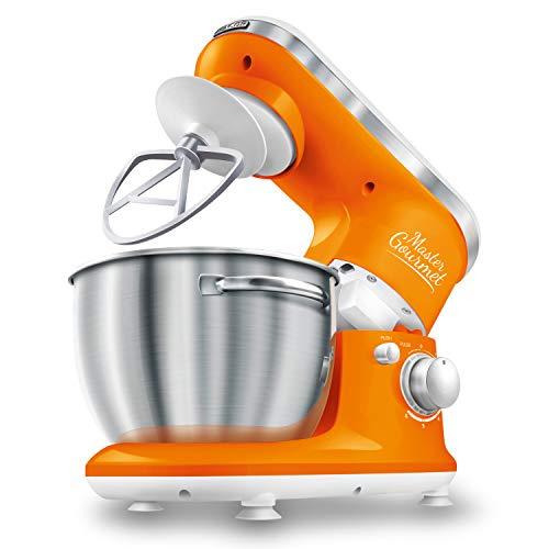 Sencor 4.2qt Stand Mixer with Pouring Shield - Orange