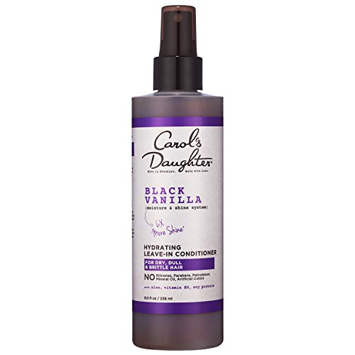 Carol's Daughter Black Vanilla Moisture & Shine Leave In Conditioner for Dry Hair and Dull Hair, with Aloe, Vitamin B5 and Wheat Protein, 8 fl oz
