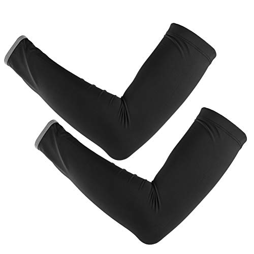 Tabpole 1 par de protectores solares para brazo de malla transpirable de seda de hielo con correa reflectante para baloncesto, correr, ciclismo