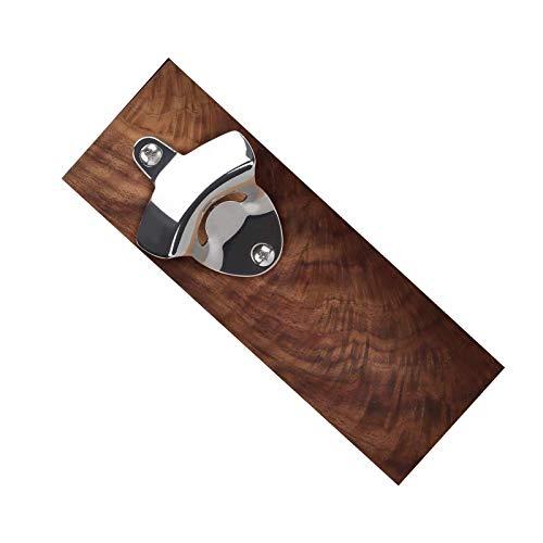 Bottle Opener Wall Mounted Hardwood Grip Barrel Keg Fix by Double Walnut Brownwalnut