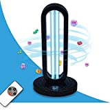 UVILIZER Tower - UV Light Sanitizer & Ultraviolet Sterilizer Lamp w/ Remote Control (Portable UV-C Cleaner for Home, Room, Travel   38W UVC Ozone Disinfection Bulb   Kill Germs, Bacteria, Virus   USA)