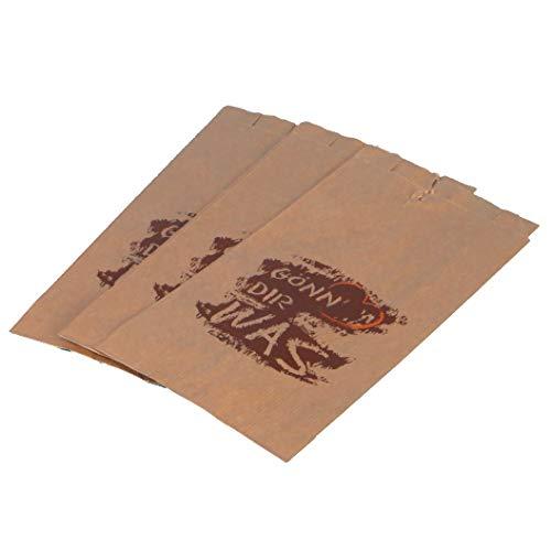 1000 Papier Faltenbeutel Bäckerfaltenbeutel Brötchentüten braun mit Aufdruck