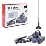Tti tti de pack21.CB TCB de 550.emisoras de Radio Kit con magnético pn1.ml160.Antena