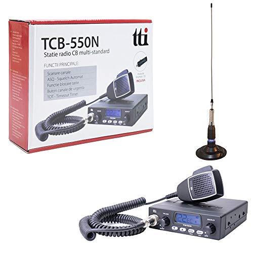 TTi TTI-PACK21 Radio CB TCB-550 + PN1 ML160 Antena con Base magnética