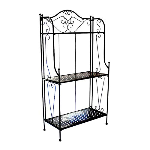 Metalen opvouwbare 3 Tier Plant & Home Decor Display Stand Rack/Boekenplank Zwart